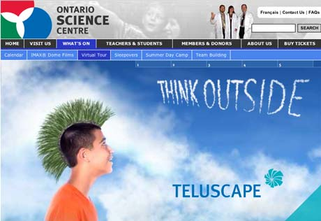 Main screen for the Teluscape