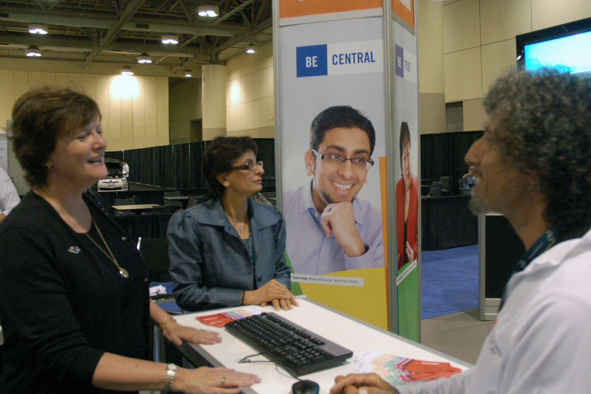 Secretary of the Cabinet, Shelly Jamieson and ADM Shamira Madhanny visit the OPS Diversity booth.